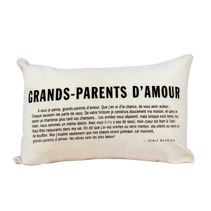 Coussin Grands-Parents d'amour