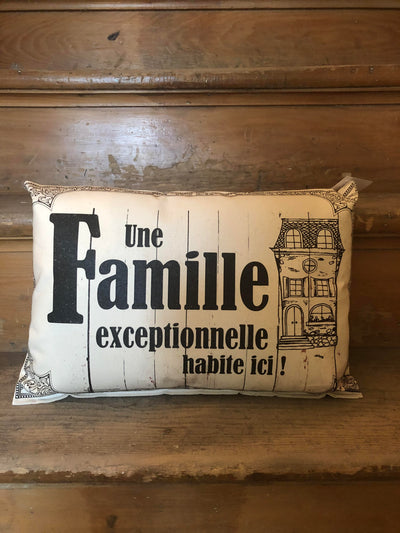 Coussin Une Famille