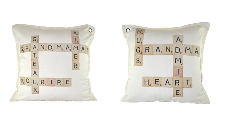Coussin Grand-Maman Scrabble