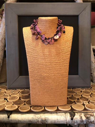 Collier Caracol Rose-Mauve