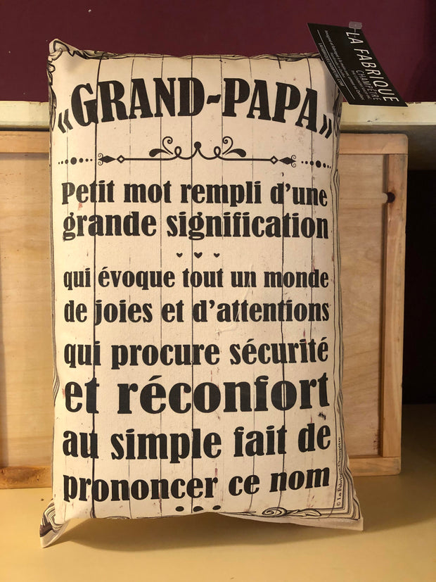 Coussin Grand- Papa