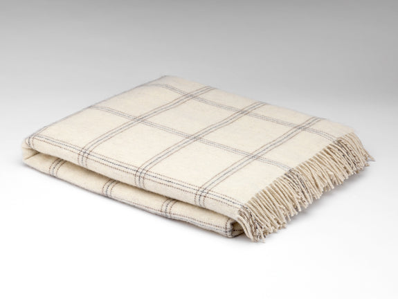 White Pearl Window Alpaca Throw