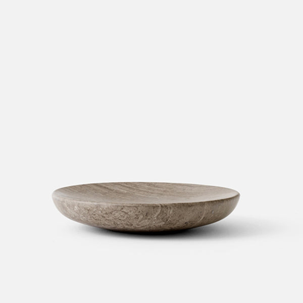 Hover Bowl, Honed Brown Marble
