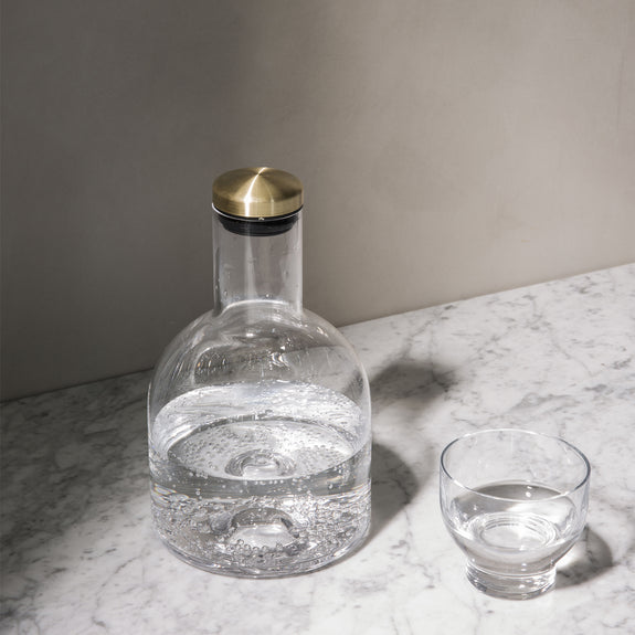 Bottle Carafe 1.4L Brass Lid