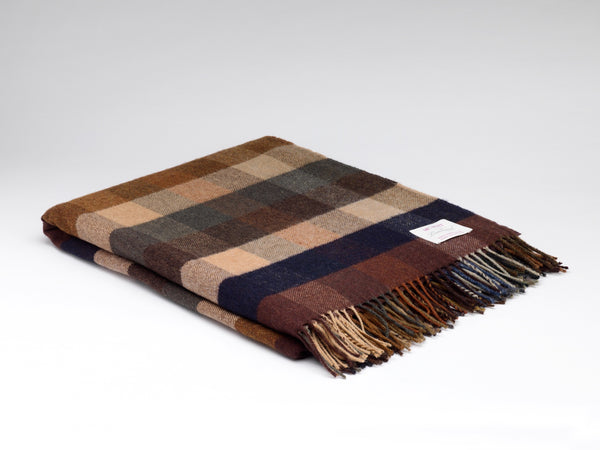 Autumn Mini Check Supersoft Throw