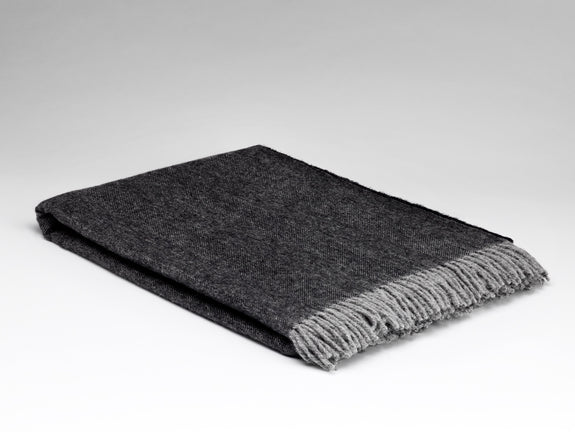 Graphite Herringbone Supersoft Throw