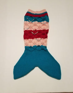 Small Child's Mermaid Tail | Hand-knit | Acrylic Yarn | Sequins