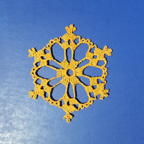 Snowflake Ornament, Crocheted Snowflake, Lace Snowflake, Snowflake Ornament