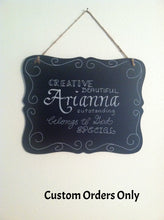 Chalkboard Sign, Personalized Sign, Name Sign, Custom Chalkboard Sign