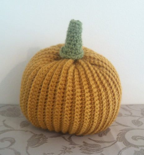 Pumpkin, Crocheted Pumpkin, Harvest Pumpkin, Autumn Decor