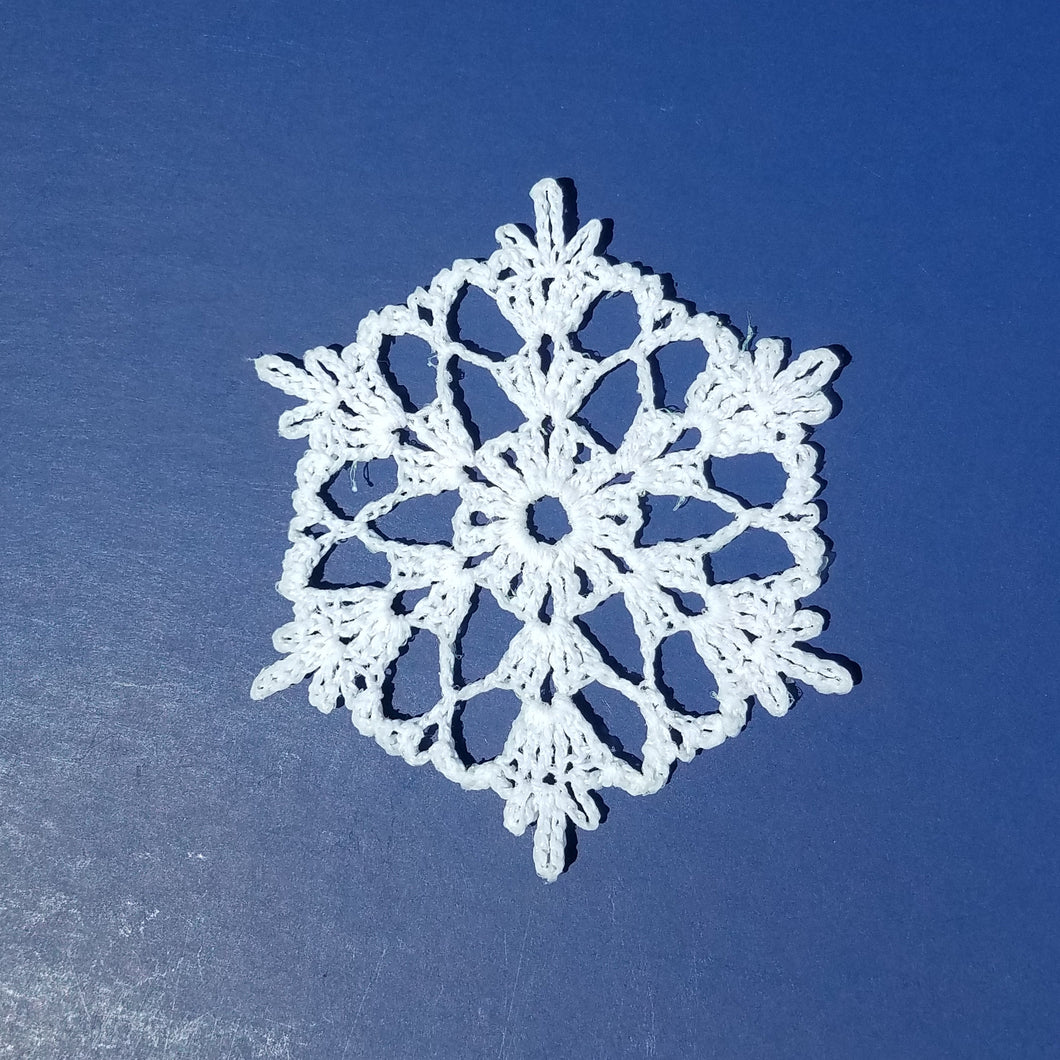 Snowflake Ornament, Crocheted Snowflake, Lace Snowflake