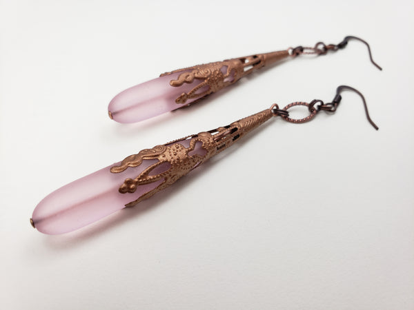 Antwerp Earrings in Rosé + Copper