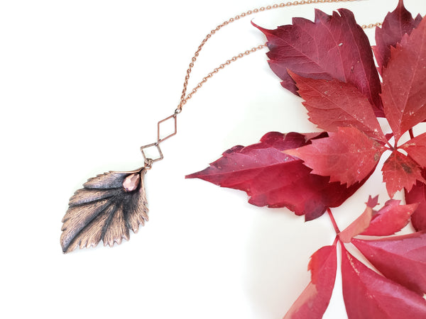 Start Again Necklace in Copper + Blush