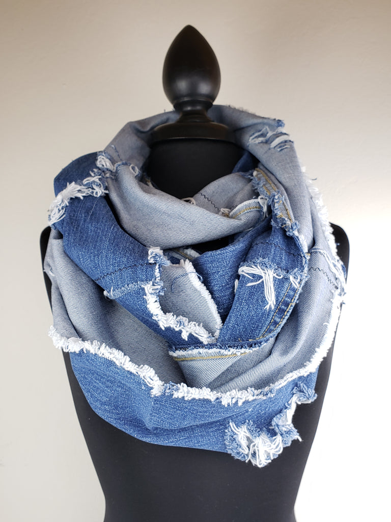 Denim Dreams Infinity Scarf #10