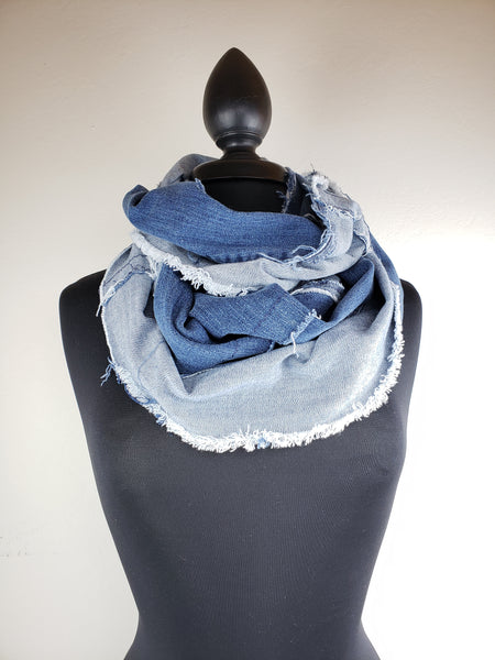 Denim Dreams Infinity Scarf #11