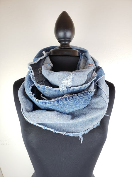 Denim Dreams Infinity Scarf #12
