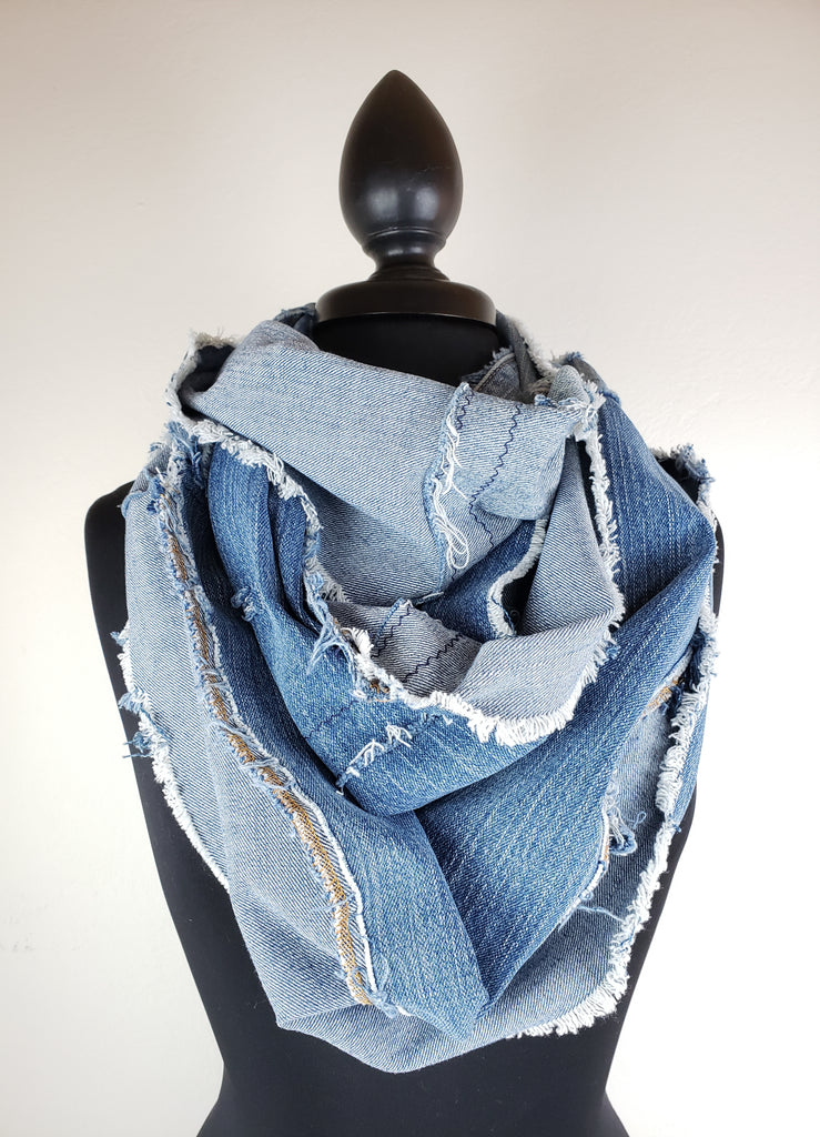 Denim Dreams Infinity Scarf #13