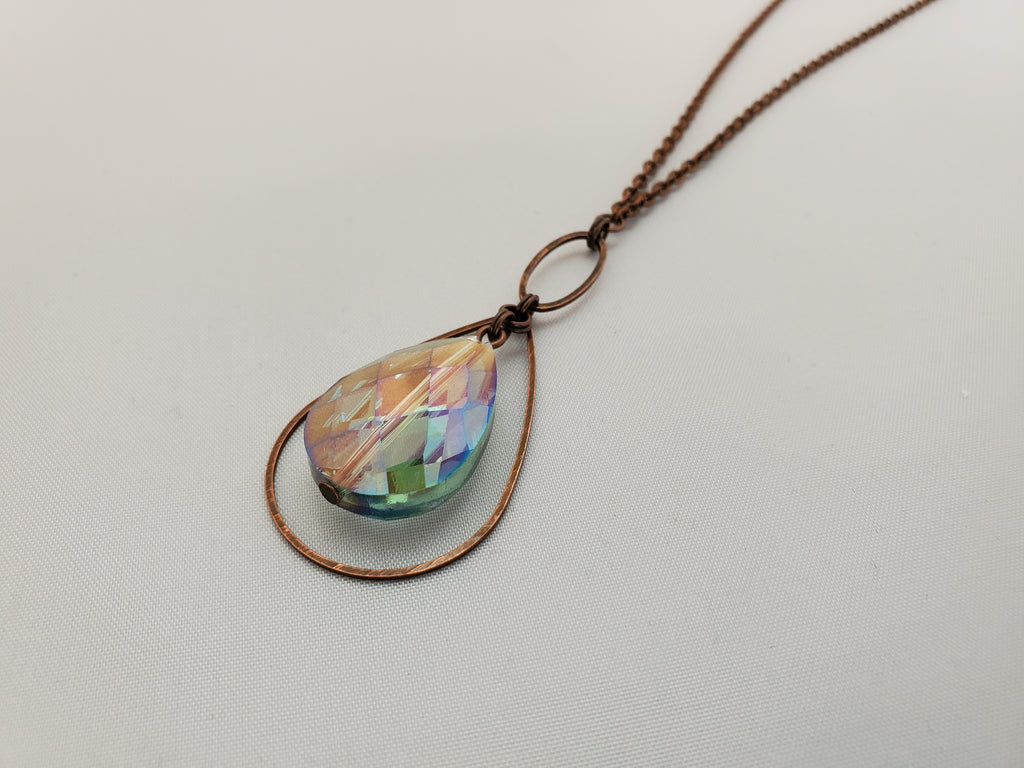 Hope Rising – Crystal Necklace in Copper and Radiance