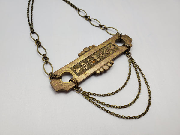 Love's Gate – Vintage Hardware Necklace in Brass
