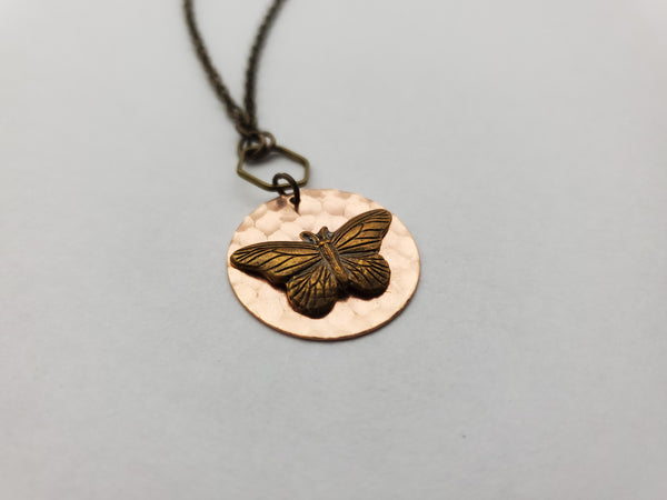 Papillon in Copper + Brass
