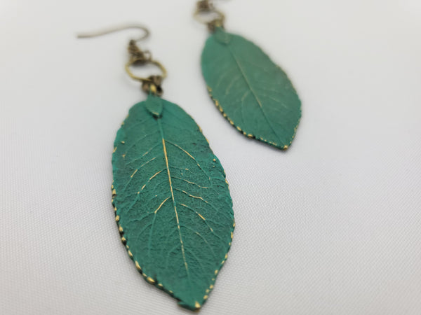 Spring Awakened Leaf Earrings in Florence