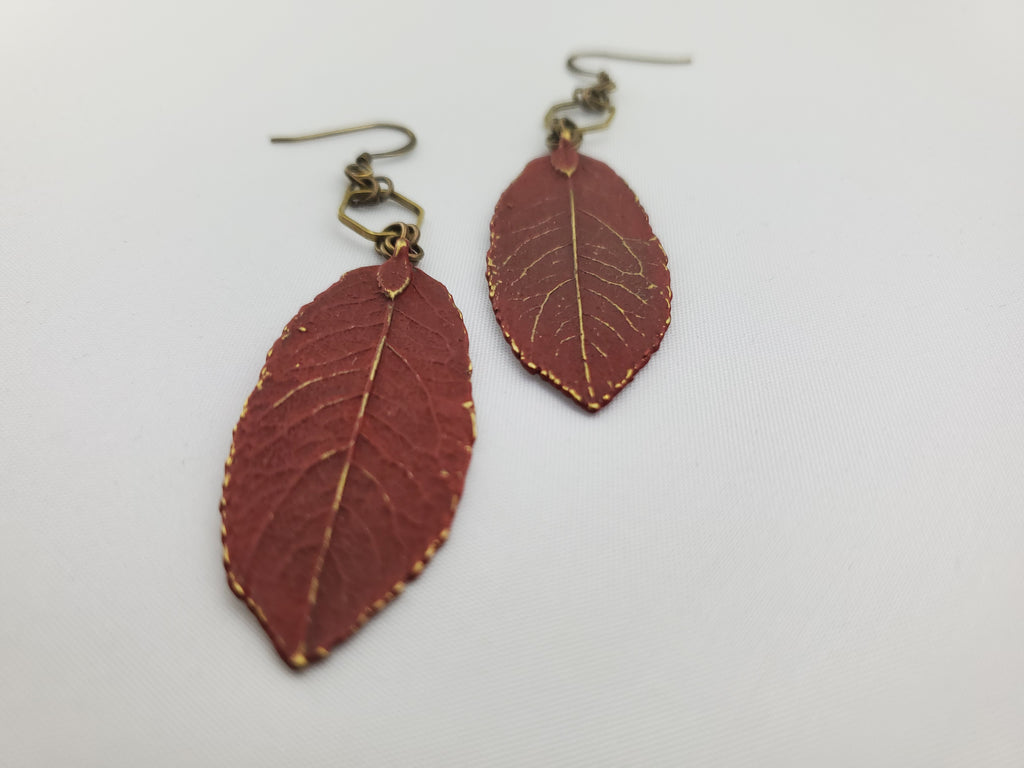 Spring Awakened Leaf Earrings in Emperor's Silk