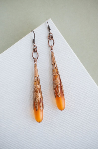 Antwerp Earrings in Saffron + Copper