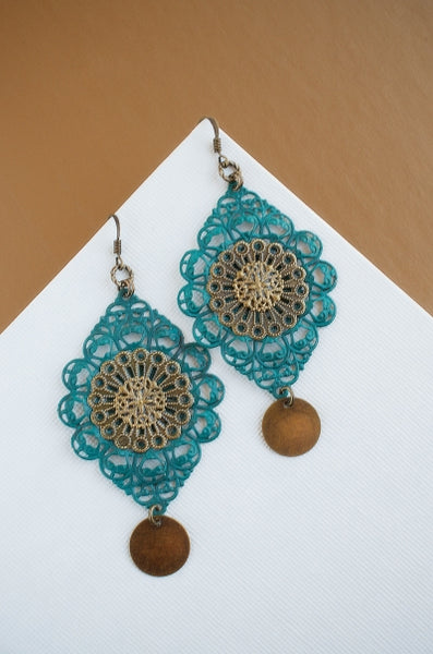 Tibetan Lace in Renfrew Blue + Brass