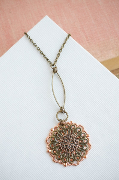 Bloom Necklace in Brass + Copper