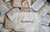 HerStory Branded Market Bag in Natural + Black