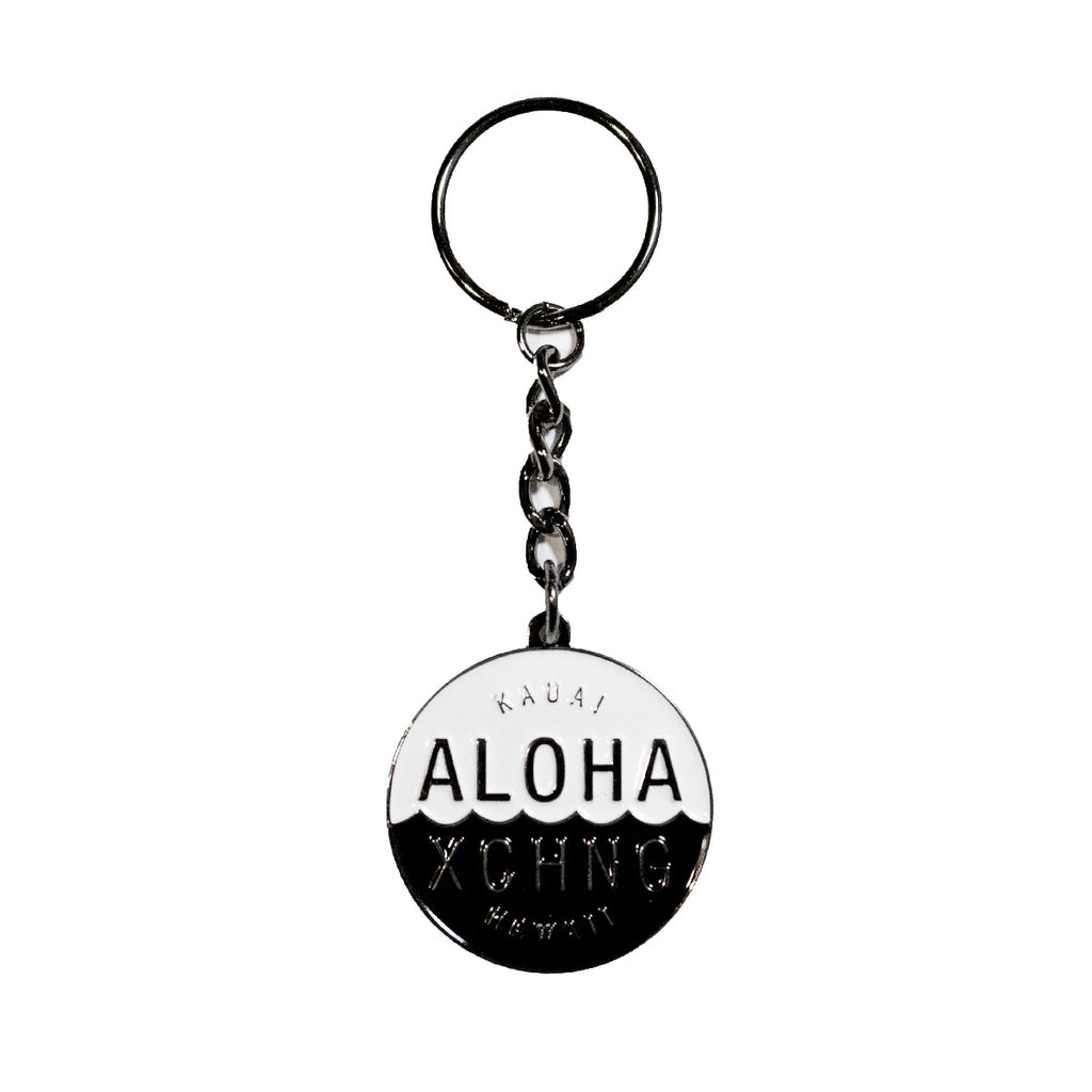 Aloha Exchange Shop Logo Keychain