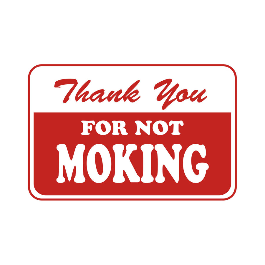 Thank You For Not Moking Sticker