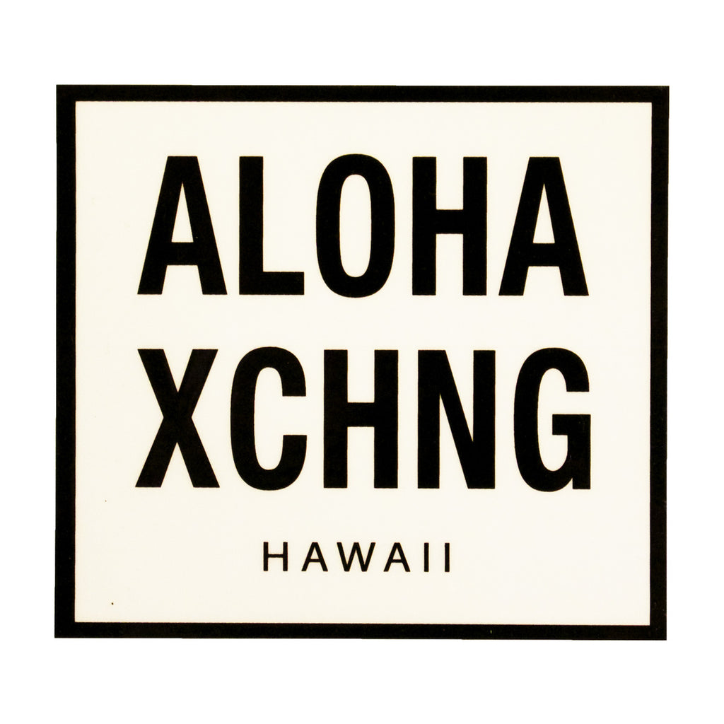 Black Aloha Xchng sticker