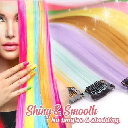 Clip-On Colored Hair Extensions - Imoost