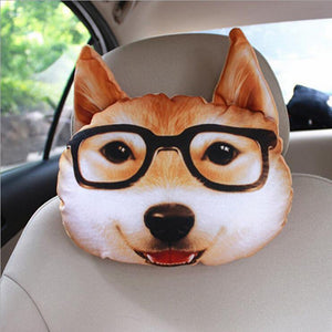 Car 3D Animal Headrest Neck Pillow - Imoost