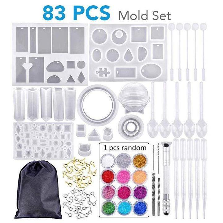 DIY Crystal Glue Jewelry Mold -  83 Pcs & 229 Pcs Set - Imoost
