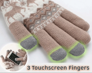 Extra-warm Fleece Touchscreen Gloves - Imoost