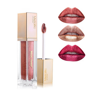 Waterproof Metallic Liquid  Lip Gloss - Imoost