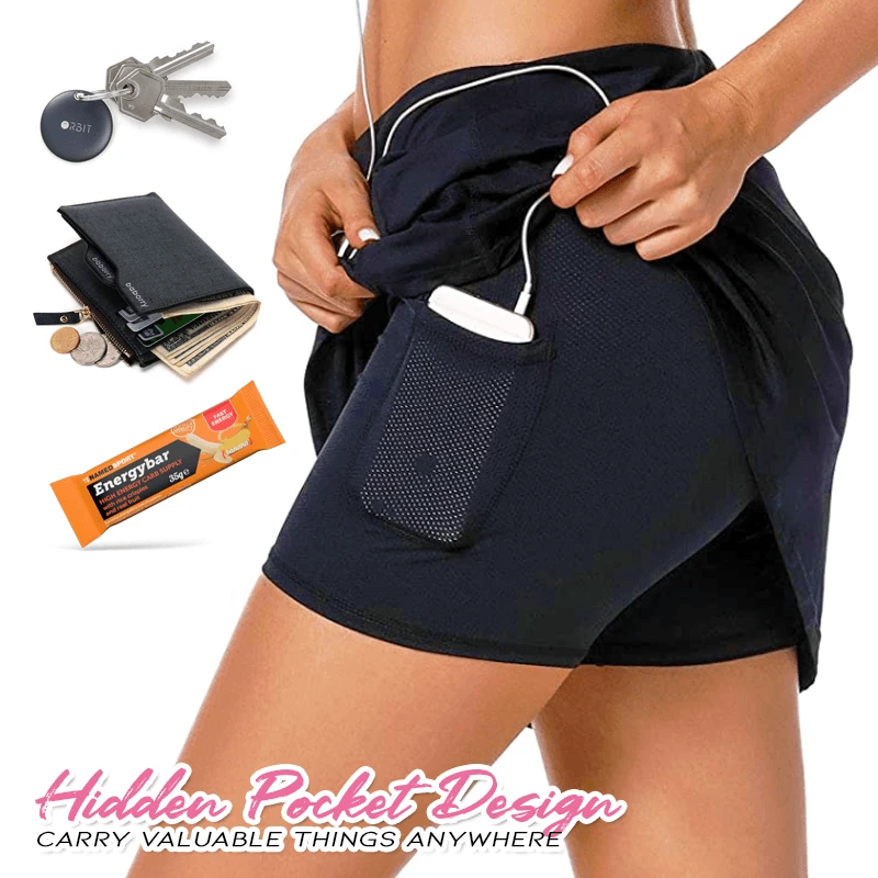 Chafe-Free Skort With Hidden Pocket - Imoost