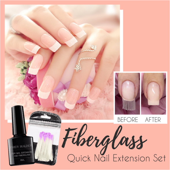 Fiberglass Quick Nail Extension Set - Imoost