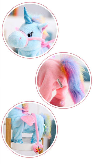 Magic Walking & Singing Unicorn Plush Toy - Imoost