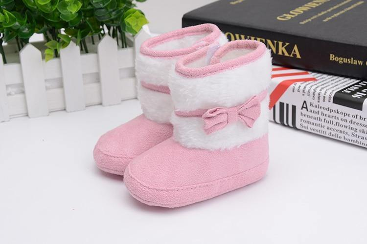 Bowknot Fleece Snow Boots - Imoost