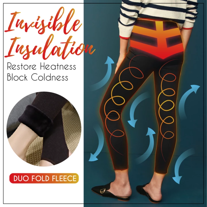 Ultra Warm Fleece Leggings (Free Size) - Imoost