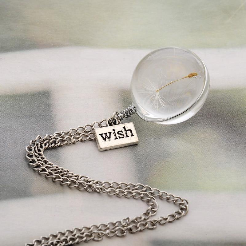 The Dandelion Wish Crystal Necklace - Imoost