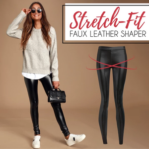 Stretch-Fit Faux Leather Shaper - Imoost