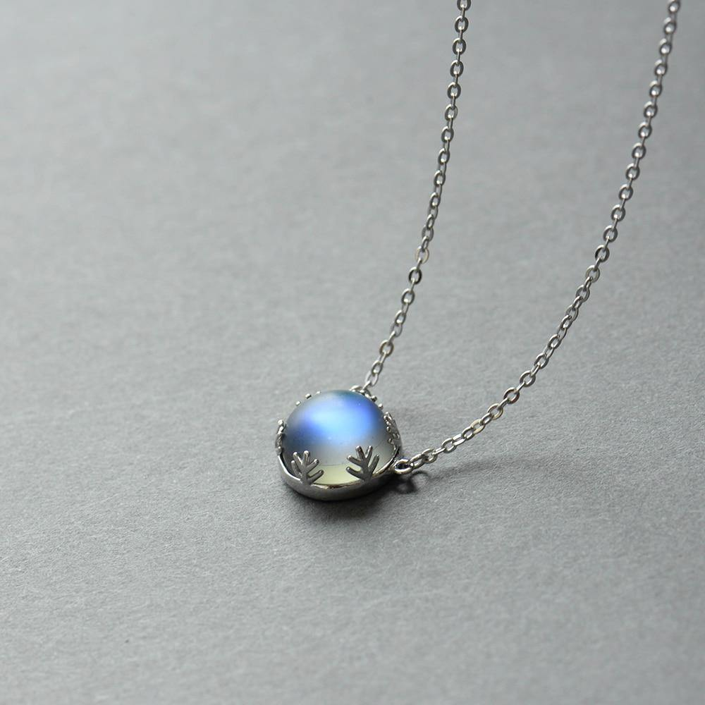 Aurora Borealis Necklace 925 Sterling Silver - Imoost