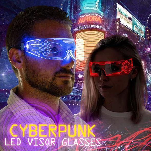 Cyberpunk LED Visor Glasses - Imoost