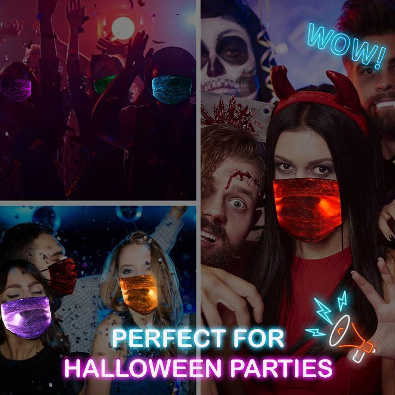 Fiber Optic Halloween Face Cover - Imoost