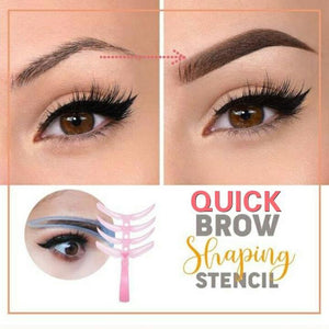 Quick Brow Shaping Stencil (4pcs Set) - Imoost