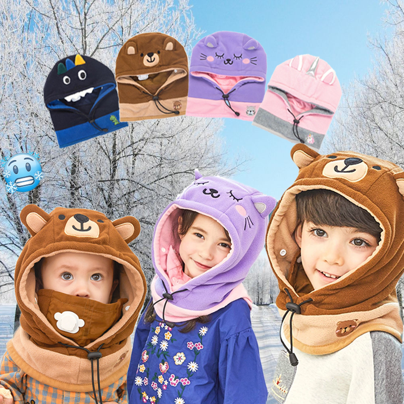 Cute Animal Warmer Headgear (3 in 1) - Imoost